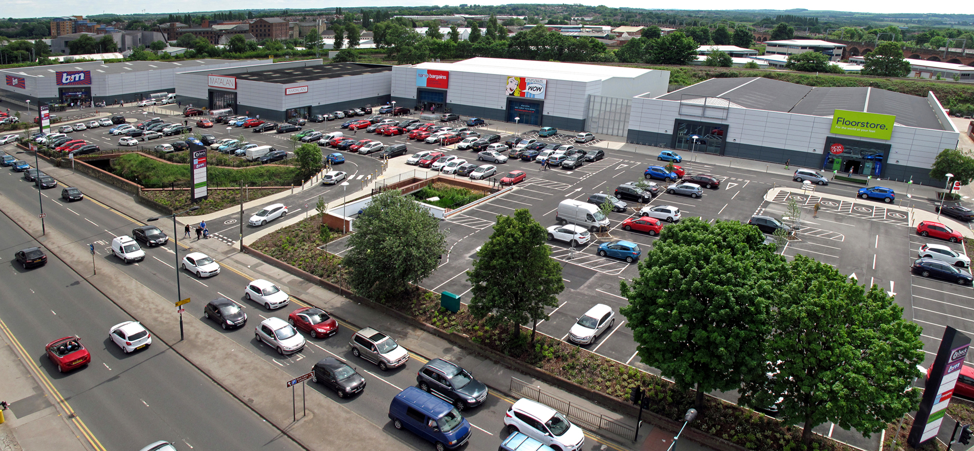 Completion of beck retail park wakefield smr architects for Smr landscape architects