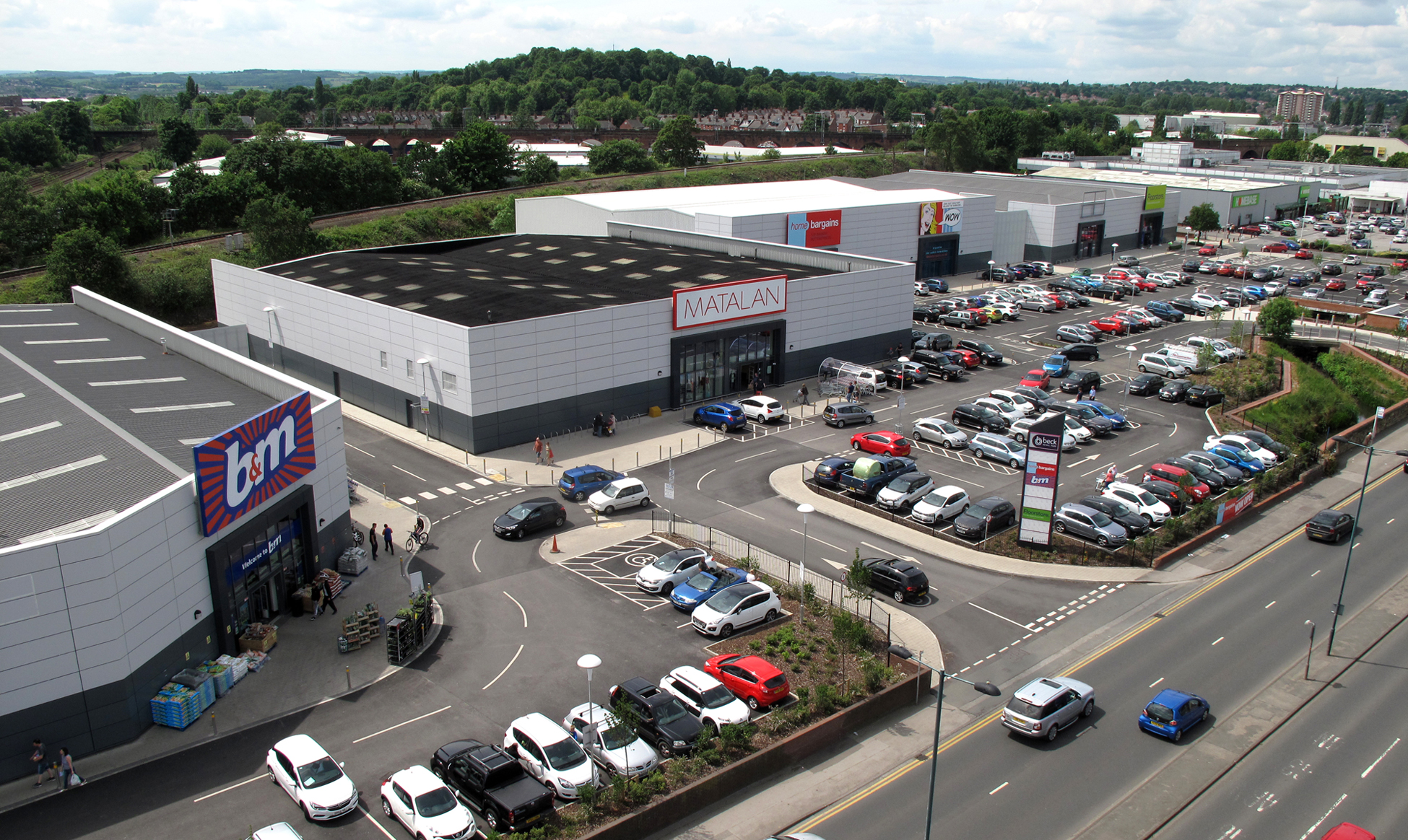 completion of beck retail park wakefield smr architects